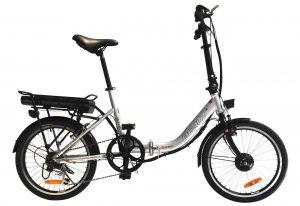 Easy Ride 20 Inch Step Through Folding Commuter Electric Bike BEAUT CV (Silver Black) Silver / 20 inch eBikesPro Australia