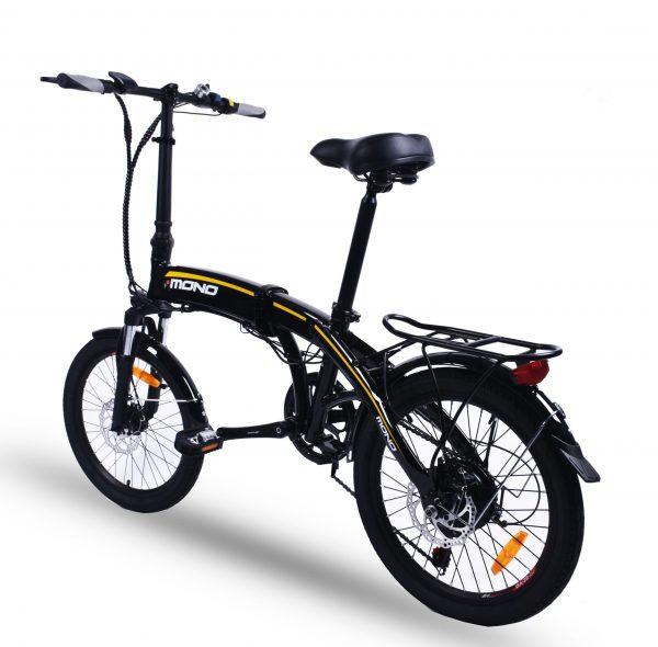 Lightweight Shimano 7 Speed 20 Inch Folding Electric Mountain Bike FD20MY18 SM (Black)  eBikesPro Australia