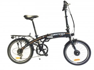 Easy Carry 20 Inch Folding City Electric Bike GECKO CV (Matt Black) Matt Black / 20 inch eBikesPro Australia