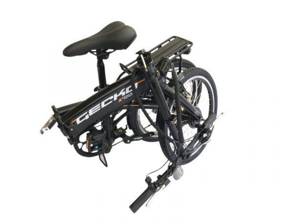 Easy Carry 20 Inch Folding City Electric Bike GECKO CV (Matt Black)  eBikesPro Australia
