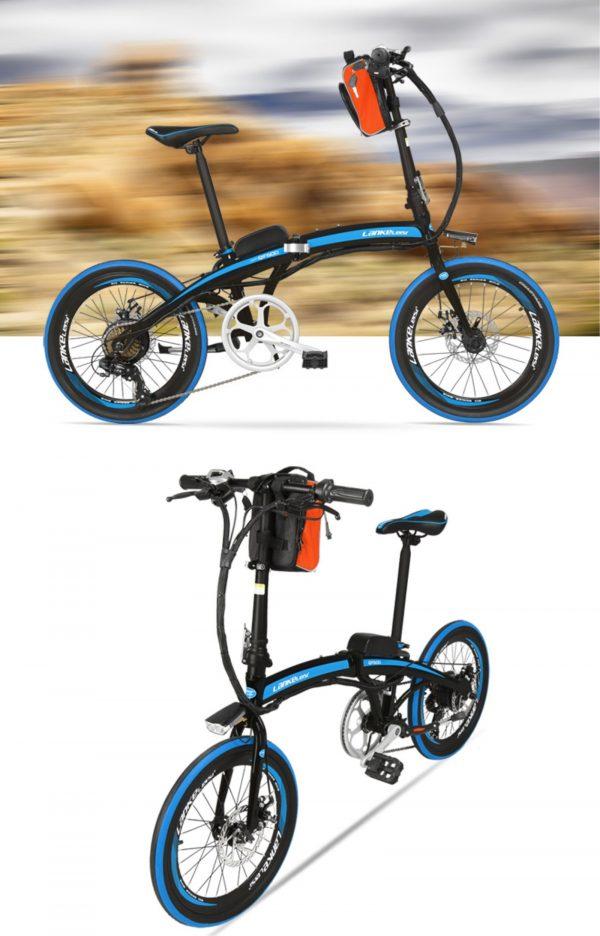 Foldable 20 Inch External Battery City Electric Bike QF600 OS (White/Black/Red Black/Red/Orange)  eBikesPro Australia