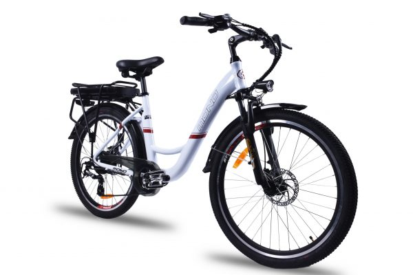 Powerful Step Through 26 Inch City Electric Bike S26MY18 SM (White/Black)  eBikesPro Australia