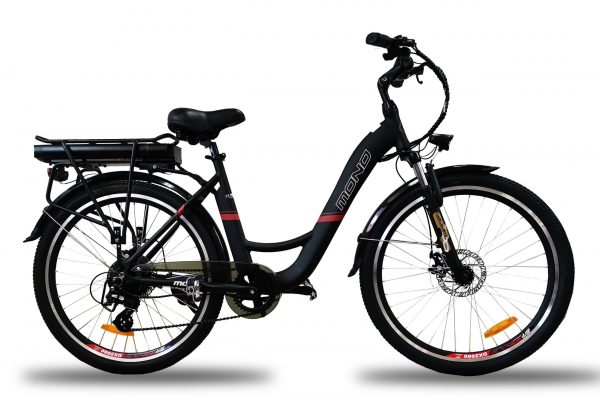 Powerful Step Through 26 Inch City Electric Bike S26MY18 SM (White/Black) Black / 26 inch eBikesPro Australia
