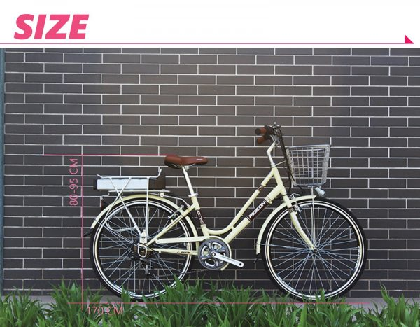 "Beautiful Lightweight 26"" Step Through 6 Speed External Battery Electric Bike Flying Pigeon OS (Silver/Yellow)  eBikesPro Australia"