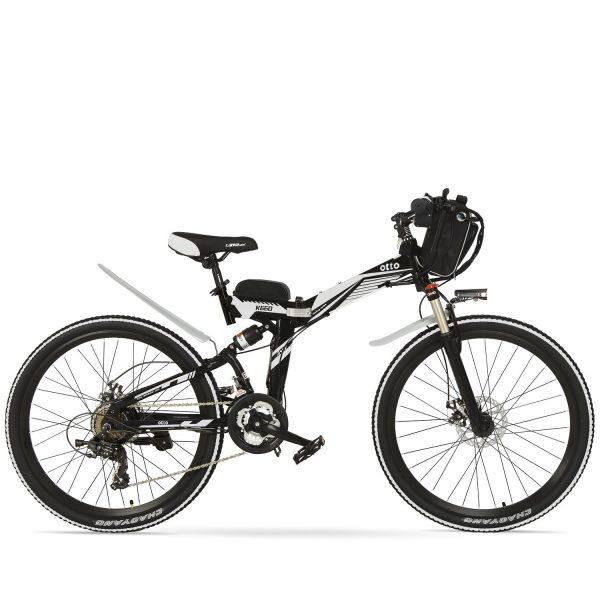 Easy Carry 26 Inch Folding Mountain Electric Bike K660 OS (Black/Blue/Grey/Red/White) Black White / 26 inch eBikesPro Australia