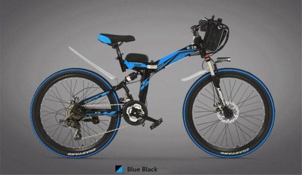 Easy Carry 26 Inch Folding Mountain Electric Bike K660 OS (Black/Blue/Grey/Red/White)  eBikesPro Australia