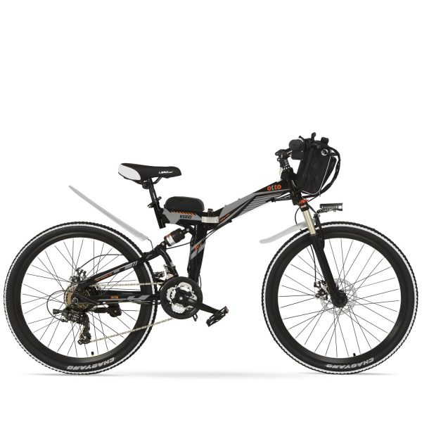 Easy Carry 26 Inch Folding Mountain Electric Bike K660 OS (Black/Blue/Grey/Red/White) Blue Black / 26 inch eBikesPro Australia