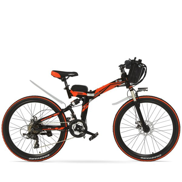 Easy Carry 26 Inch Folding Mountain Electric Bike K660 OS (Black/Blue/Grey/Red/White) Red Black / 26 inch eBikesPro Australia