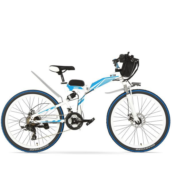 Easy Carry 26 Inch Folding Mountain Electric Bike K660 OS (Black/Blue/Grey/Red/White) Blue White / 26 inch eBikesPro Australia