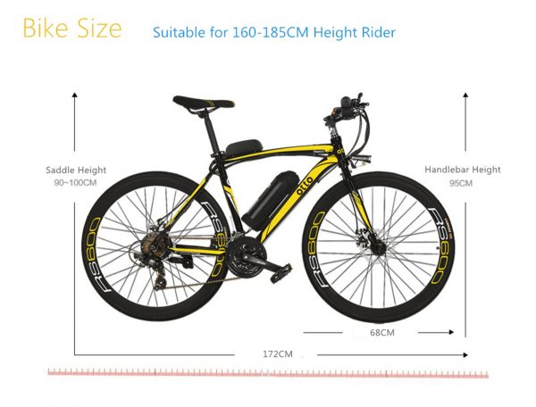 Affordable 700c Shimano 21 Speed Commuter Electric Bike RS600 OS (Grey/Yellow/Blue/Red)  eBikesPro Australia
